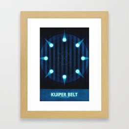 Sol System - Kuiper Belt Framed Art Print