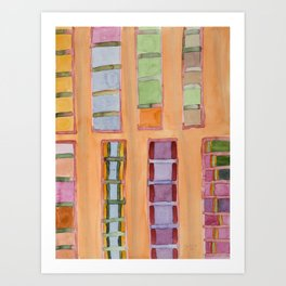 Standing and Hanging Pillars Art Print