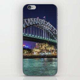 Sydney Harbor Bridge at Night iPhone Skin