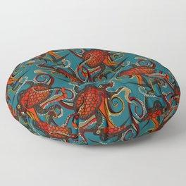 octopus ink teal Floor Pillow