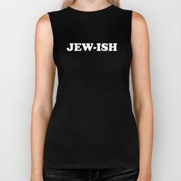 JEW-ISH Nice Jewish Hanukkah Gifts Biker Tank
