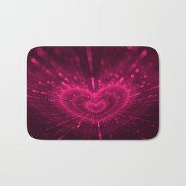 Purple Love Heart, Happy Valentine's Day Pattern Bath Mat