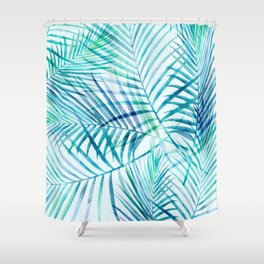 Tropical Palm Pattern Shower Curtain