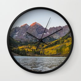 USA Maroon Lake White River National Forest Colorado Nature Autumn Mountains Parks Forests landscape photography mountain park forest Scenery Wall Clock