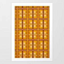 Autumn Gold Plaid Art Print