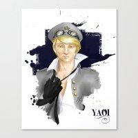 yaoi Canvas Prints featuring Yaoi by Noemí duVallon