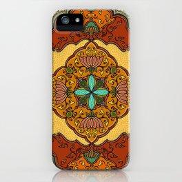 Floral murals iPhone Case