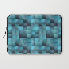 Tiled Pattern Shades Of Blue Laptop Sleeve