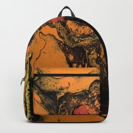 Dirty Acrylic Pour Painting 06, Fluid Art Reproduction Abstract Artwork Backpack