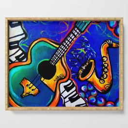 Carnival Jazz Painting Serving Tray