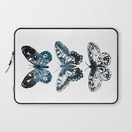 Butterfly Tattoo in Black and Blue Laptop Sleeve