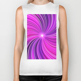 Purple stipes Biker Tank