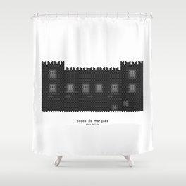 HexArchi - Portugal, Ponte de Lima, Paços do Marquês Shower Curtain