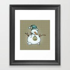 Snowman {Peaceful} Framed Art Print
