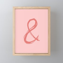 Ampersand Framed Mini Art Print