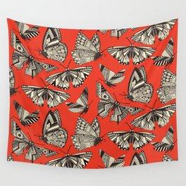 summer butterflies fire Wall Tapestry