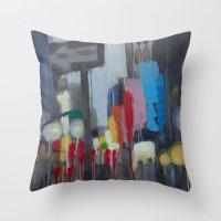 santa monica Throw Pillows featuring Santa Monica by Elizabeth Grimes
