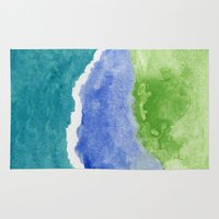salt water Area & Throw Rugs featuring Salt Water by Beth Thompson