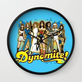 SuperWomen of the 70s - DyNoMite! Wall Clock