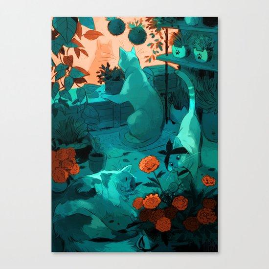 Small flower shop Canvas Print