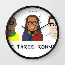 The Three Ronnies - Ronaldo, Ronaldinho and 'CR7' Cristiano Ronaldo Wall Clock
