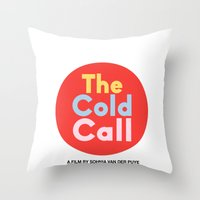 logo Throw Pillows featuring Logo by coldcallfilm