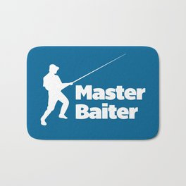 Master Baiter Funny Quote Bath Mat