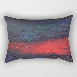 Bennett Red Dark Blue Rectangular Pillow