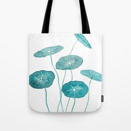 whorled umbrella plant leaf watercolor Tote Bag
