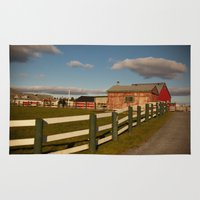farm Area & Throw Rugs featuring Farm by SShaw Photographic