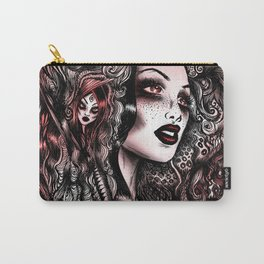 Baroque Head_Red Carry-All Pouch