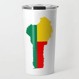 benin flag map Travel Mug