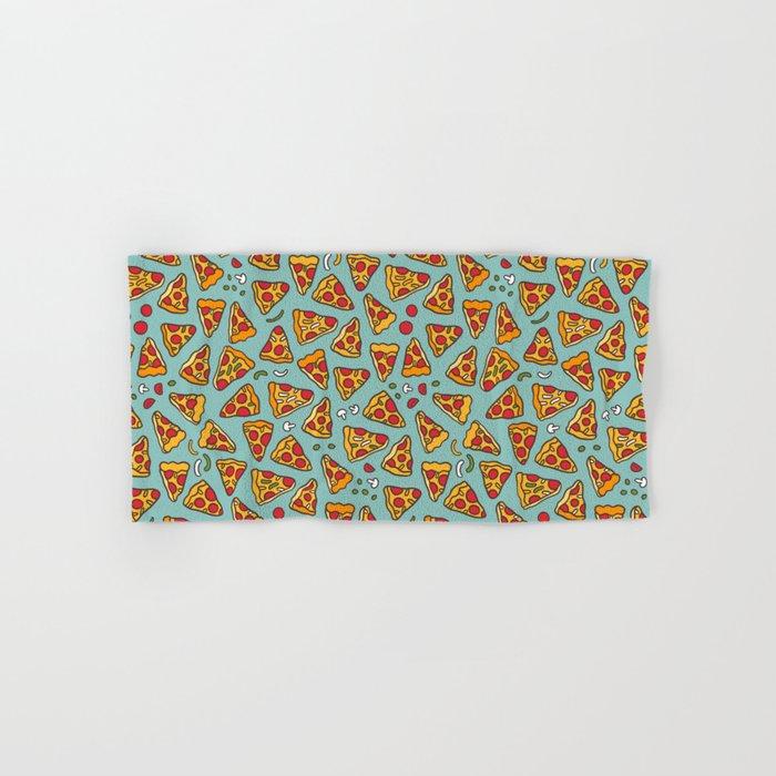Funny pizza pattern Hand & Bath Towel
