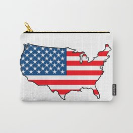 United States Map with American Flag Carry-All Pouch
