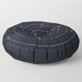 Planets symbols solar system Floor Pillow