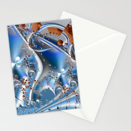 Postal service - An abstract fractal illustration Stationery Cards