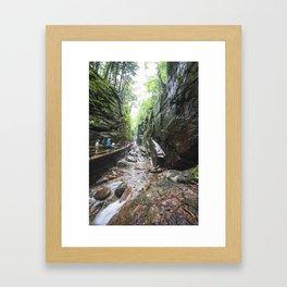 Flume Gorge New Hampshire 2 Framed Art Print