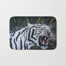 """""""White Tiger"""" Bath Mat"""