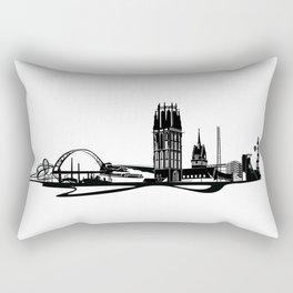 Skyline Duisburg Rectangular Pillow