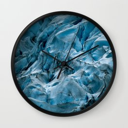 Blue Ice Glacier in Norway - Landscape Photography Wall Clock