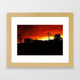 Sunset on Fire Framed Art Print