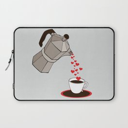 Kitchen Living Room Interior Wall Home Decor with Cuban Coffee Maker pouring Hearts Laptop Sleeve
