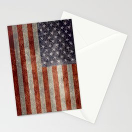 USA flag - Retro vintage Banner Stationery Cards