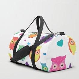 Rainbow Owl Cuties Duffle Bag
