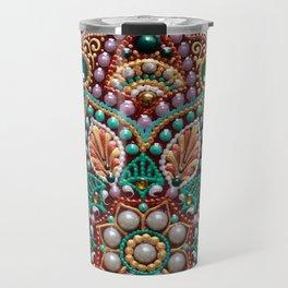 Bordo flower mandala Travel Mug