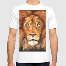 Iron Lion Mens Fitted Tee MEDIUM White