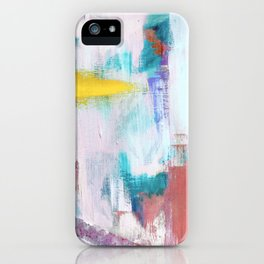 Colfax: an interesting, vibrant, abstract mixed media piece in a variety of colors iPhone Case