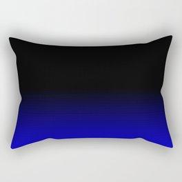 Blue Black Ombre Rectangular Pillow