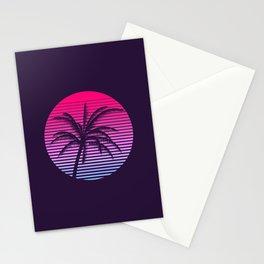 Vaporwave Sunset Stationery Cards