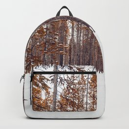 Auburn Snow Forest (Color) Backpack